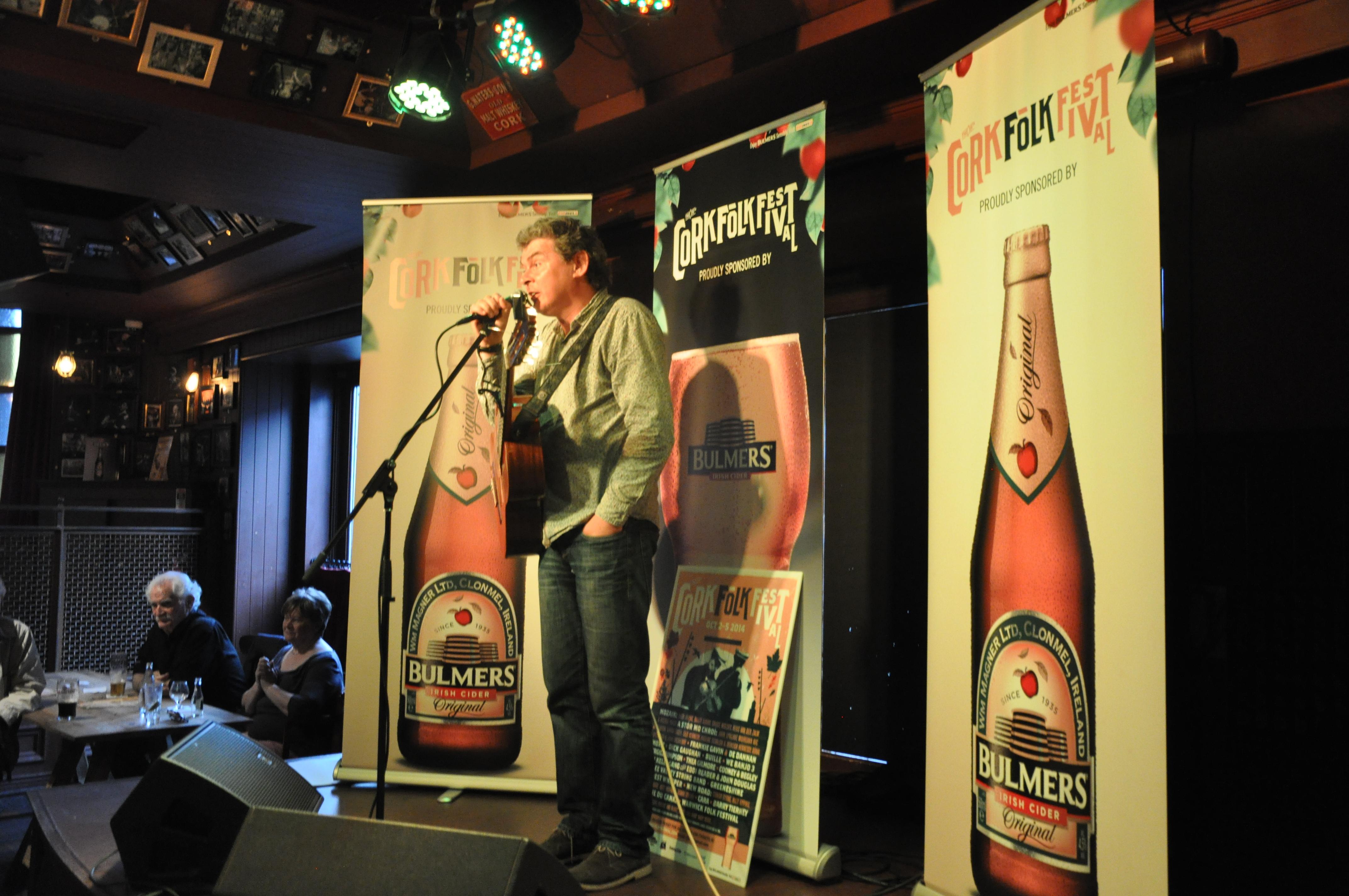 John Spilllane at  Cork Folk Fest launch