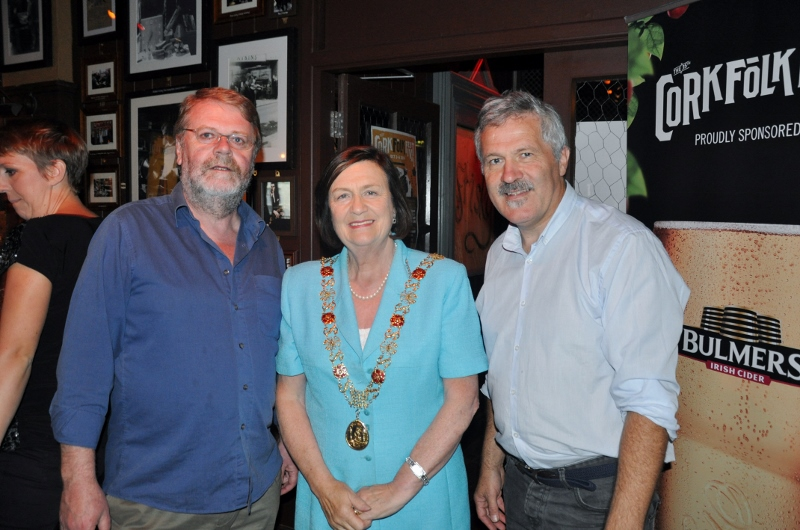 Jim Walsh, Lord Mayor, William Hammond at Cork Folk Fest launch 9.9.14 (800x530)