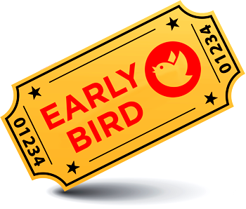 Book your early bird ticket now, this covers all events for €85