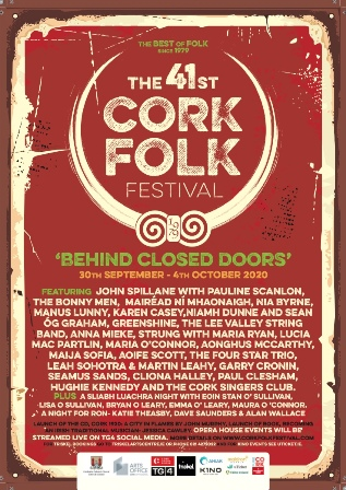 Poster for 2020 Cork Folk Festival